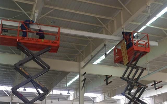 昆山精创模具工矿灯厂房照明改造工程