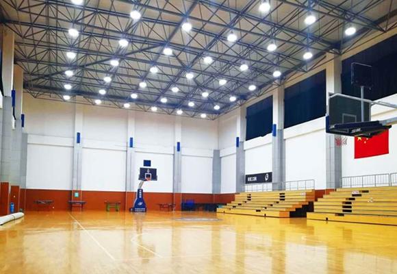 绵阳某武装部室内篮球场工矿灯案例