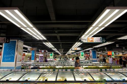 华润万家超市灯光布局改造